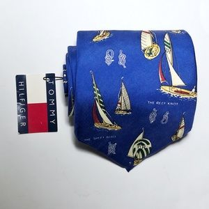 VTG Tommy Hilfiger The Reef Knot Silk Tie Sailboat